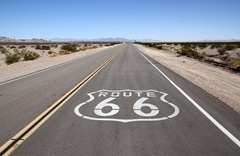 Mojave Desert Route 66 (Tony Hisgett - Flickr (CC BY 2.0))